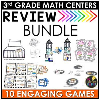 July Third Grade Math Centers BUNDLE