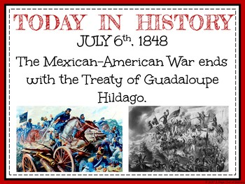 July Today in History Bell Ringers (EDITABLE)
