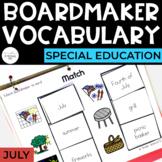 July Vocabulary Unit- Boardmaker