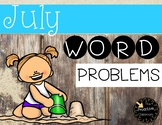 July Word Problems First Grade Addition and Subtraction Warm Ups