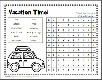 July Word Searches