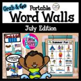 July Word Walls: Beach, Camping, Patriotic Symbols, Picnic