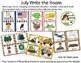 July Write the Room Bundle - 4th of July, Picnic, Camp, Construction, Dinosaur