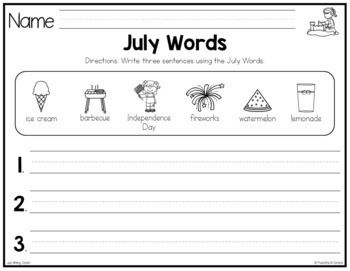 July Writing Center Mini-Packet