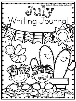 July Writing Journal {13 Fun Writing Prompts}