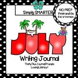 July Writing Journal:  NO PREP Journal Prompts