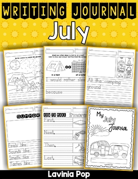 July Writing Journal Prompts