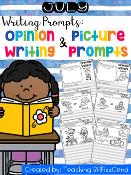 July Writing Prompts : Opinion Writing & Picture Prompts