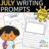 July Writing Prompts - PRINT & LEARN - no prep journal prompts