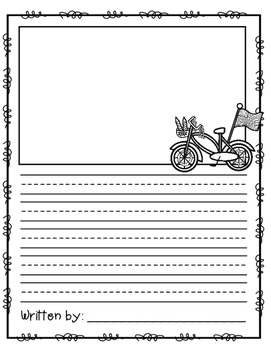 July Writing Prompts, Pages and Vocabulary Cards
