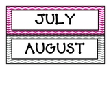 July and August Calendar Months