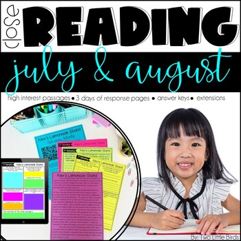 Close Reading Passages & Activities for July & August