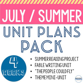 July or Summer School Lessons to teach all month long! BUNDLE!