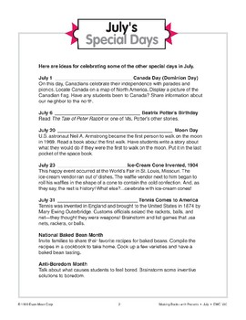 July's Special Days