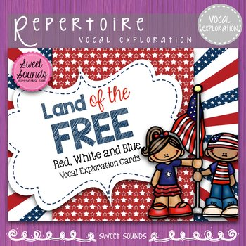 Veterans' Day Land of the Free!  {Vocal Exploration Cards FREEBIE}