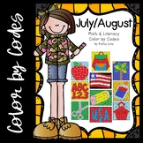 July/August Math & Literacy Color by Codes