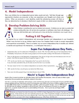 July's Apple A Day Way:  Raising Independent Dependents