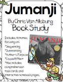 Jumanji Book Study:Organizers and Interactive Notebook Pages