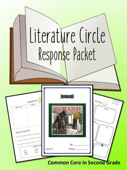 Jumanji Literature Circle Response Packet, Book Club, Nove