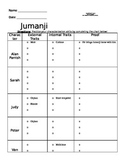 Jumanji Movie Worksheet