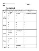 Jumanji Movie Worksheet