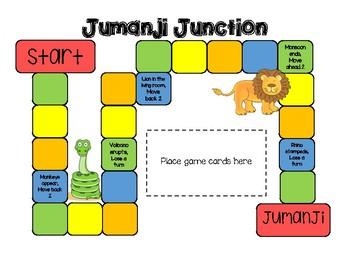 Jumanji Reading Comprehension Board Game