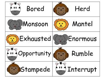 Jumanji - Vocabulary Activity Pack