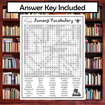 Jumanji Vocabulary Word Search