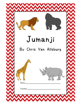 Jumanji Workbook with Game Board Comprehension Test