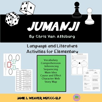 Jumanji by Chris Van Allsburg Language Literacy Book Companion Packet