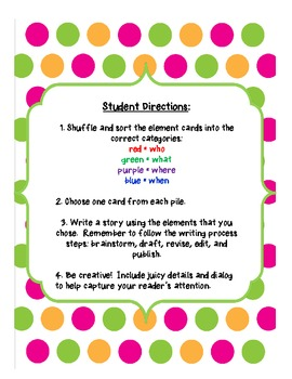 Jumble Stories: Creative Writing Activity
