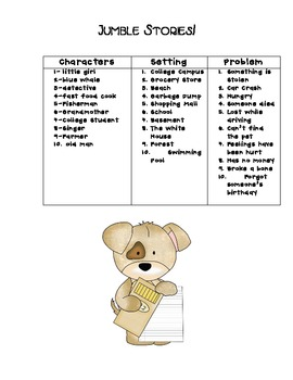 Jumble Stories Writing Activity