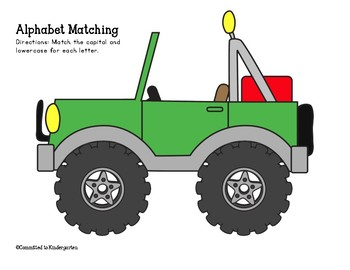 Jumbled Alphabet Jeep: Letter Matching