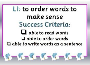 Jumbled Sentences - Teacher Modelling & Independent Cut & Stick Tasks