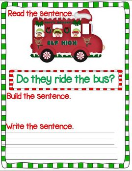 Jumbled-Up Jingle, the Elf (Mixed up Elf Sentences Unit)