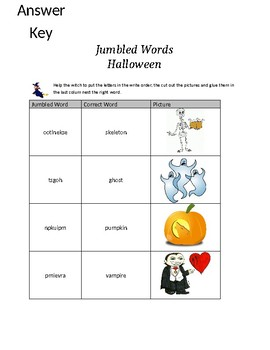 Jumbled Words - Halloween