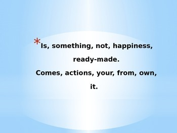 Jumbled quotes about happiness
