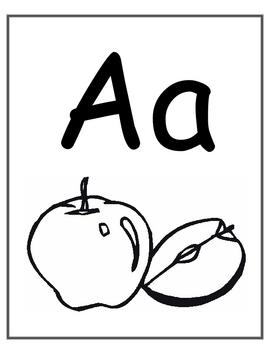 Jumbo ABC Bulletin Board Cards- correspond w/free ABC chart