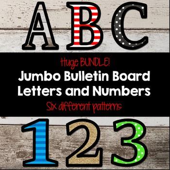 Jumbo Bulletin Board Letters BUNDLE!