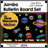 Jumbo Bulletin Board Set: Nine Musical Elements, Outer Space Theme