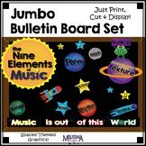Jumbo Bulletin Board Set: Nine Musical Elements, Outer Spa