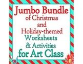 Jumbo Bundle of Christmas and Holiday Themed Art Class Wor
