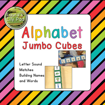 Jumbo Cubes Alphabet Words and Letter Sounds Center