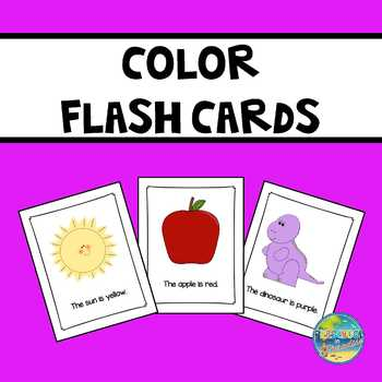 Jumbo Flash Cards:  I Know My Colors