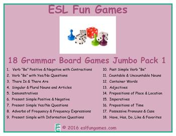 Jumbo Grammar Board Games Pack 1 Game Bundle
