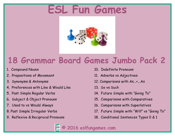 Jumbo Grammar Board Games Pack 2 Game Bundle