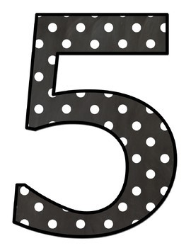 Jumbo Letters - Chalkboard Background with With White Polka Dots