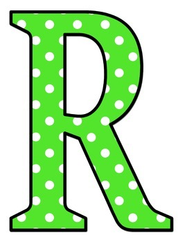 Jumbo Letters - Lime Green and White