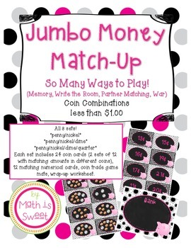 Jumbo Money Match Up! 3 Sets Combined!