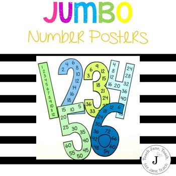 Jumbo Number Posters